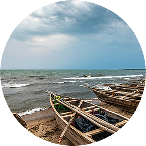 Boote am Tanganjikasee