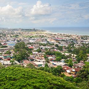 Luftbild von Monrovia