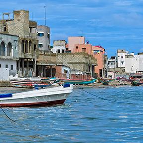 Küstenlinie des Atlantischen Ozeans in Dakar