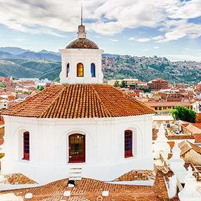 Blick von der Dachterrasse aus San Felipe de Neri - Bolivien