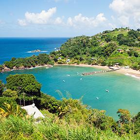 Überblick über die Karibik Bay