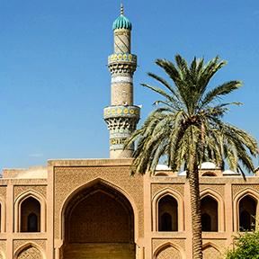 Außenansicht der Al-Mustansiriya Universität in Bagdad