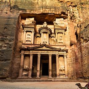 Schatzkammer in Petra, Jordanien