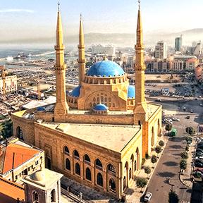Beirut Innenstadt Stadtansicht und Mohammed-al-amin-Moschee