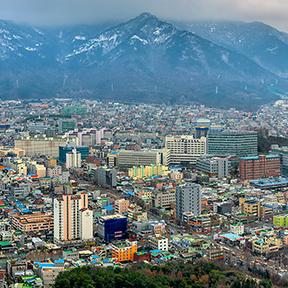 Blick über die koreanische Stadt