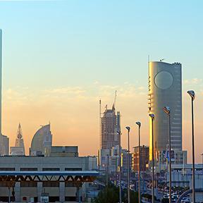 Luftaufnahme der Innenstadt von Riyadh