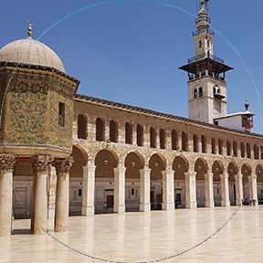 Die Umayyaden-Moschee in Syrien
