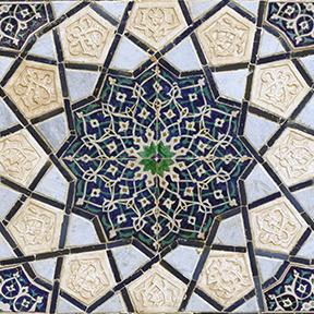 Mandala von oben gesehen