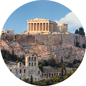 Der Tempel Parthenon in Athen