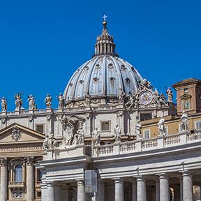 Der Petersdom im Vatikanstadt