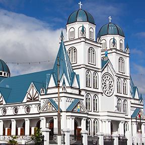 Ein Bild der Ekalesia Metotisi Samoa Matafele Methodisten Kirche in Apia