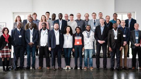 AIMS Netzwerktreffen 2020 Gruppenfoto - African Institute for Mathematical Sciences