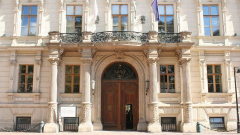 Frontseite Andrassy Universität Budapest - AUB