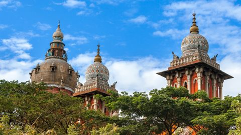 Madras High Court, Indien. Altes Gebäude in Indien. - A New Passage to India