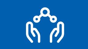 Icon mit geöffneten Händen - Wir teilen