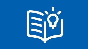 Icon mit Buch und Glühbirne