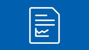 Icon Blatt Papier mit Text und Diagramm - DAAD Datenblätter