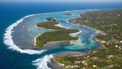 Ein Bild einer Lagune bei Muri Beach-Inseln, Rarotonga  - Cook-Inseln